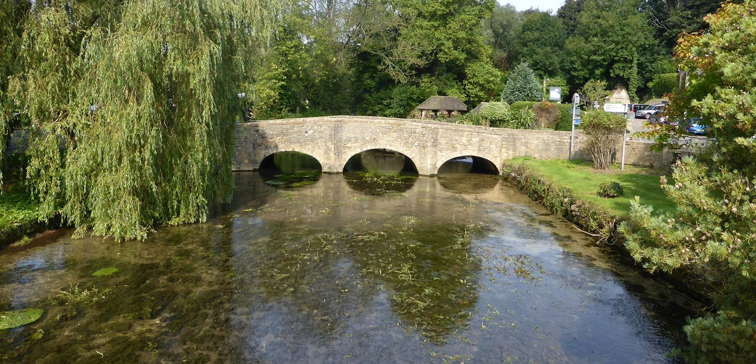 Cotswold Bridge at Bibury in the Cotswolds